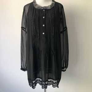 Johnny Was (4 Love and Liberty) Black Silk Tunic